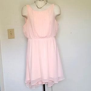 Candies pink sheer party dress